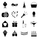 Birthday Party Celebrate Isolated Silhouette Icons - GraphicRiver Item for Sale