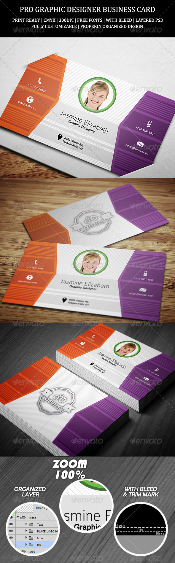 GraphicRiver Pro Graphic Designer Business Card 7260418