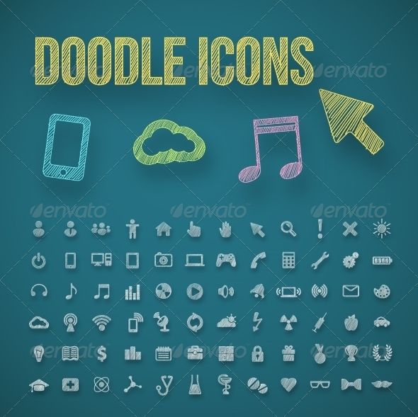 GraphicRiver Doodle Icons 7260421