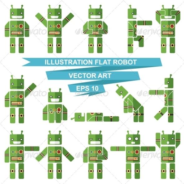 GraphicRiver Flat Robots 7260435