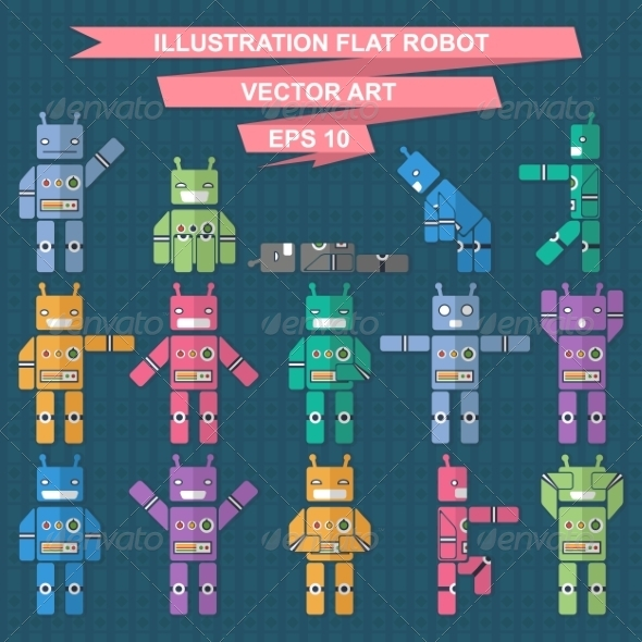 GraphicRiver Flat Robot 7260447