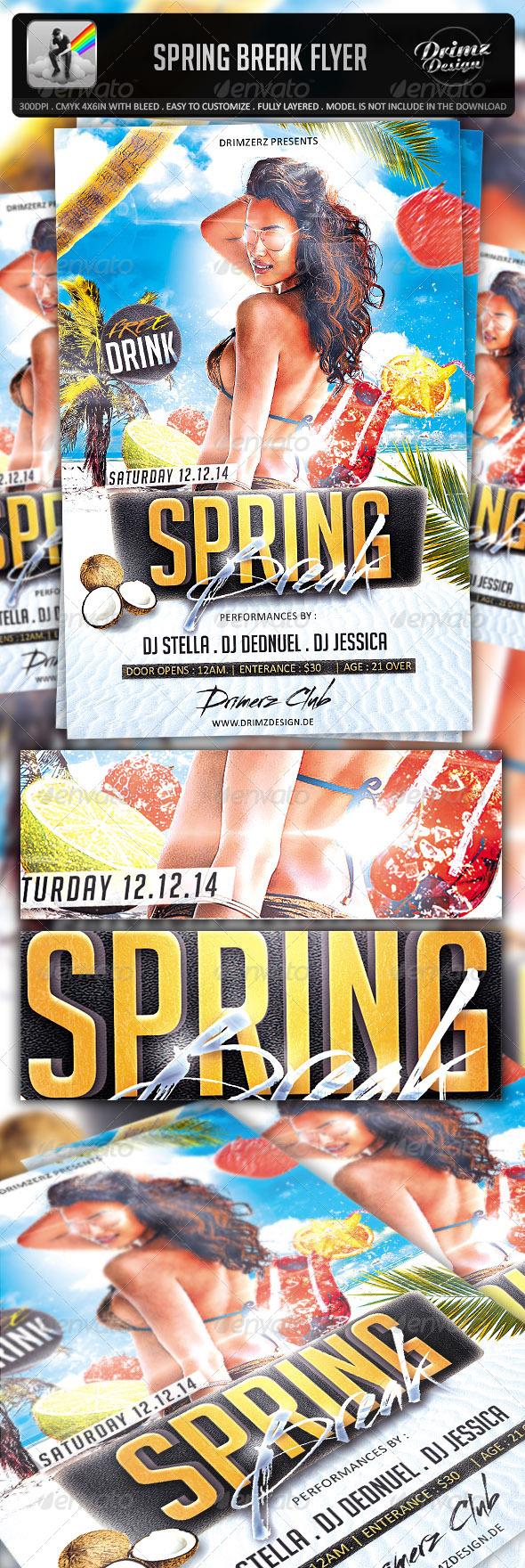 GraphicRiver Spring Break Flyer 7260560
