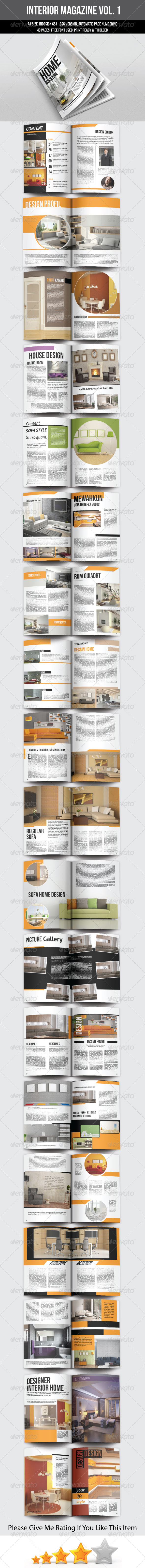 GraphicRiver A5 Portrait Interior Magazine Template 7260645