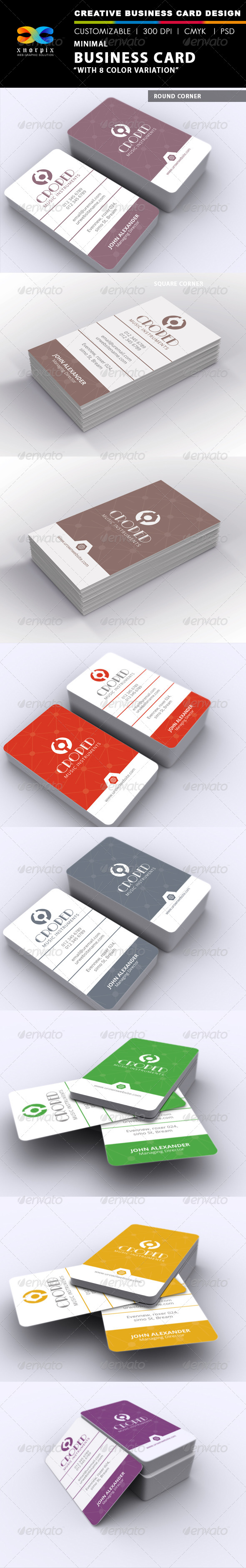 GraphicRiver Minimal Business Card 7260967