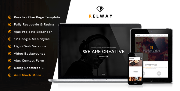 ThemeForest Relway Responsive Parallax One Page Template 7044565