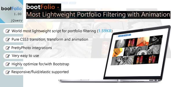 CodeCanyon bootFolio Most Lightweight Portfolio Filtering 7232474