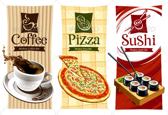 Graphic River Template designs of food banners  Vectors -  Objects  Food 758287