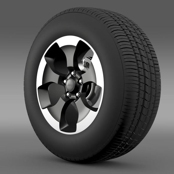 3DOcean Jeep Wrangler Polar 2014 wheel 7261221