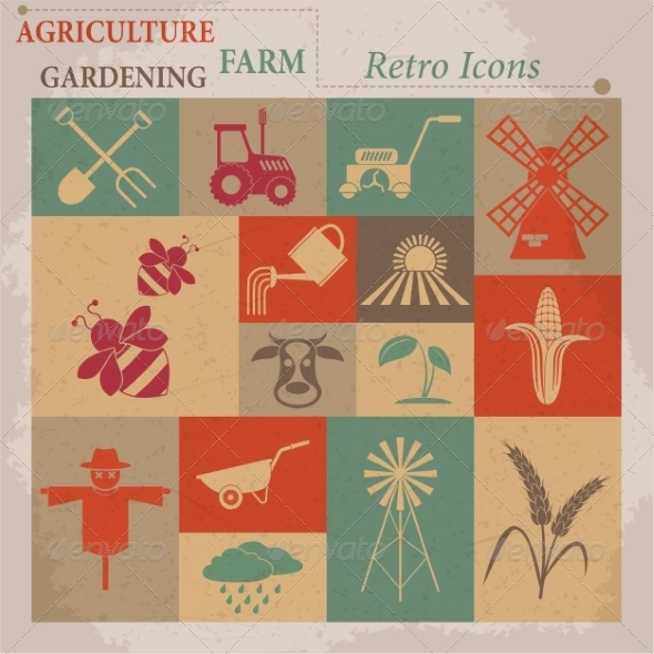 GraphicRiver Agriculture Icons 7261431