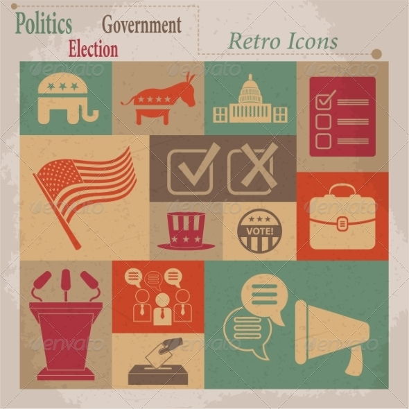 GraphicRiver Election Icons 7261434