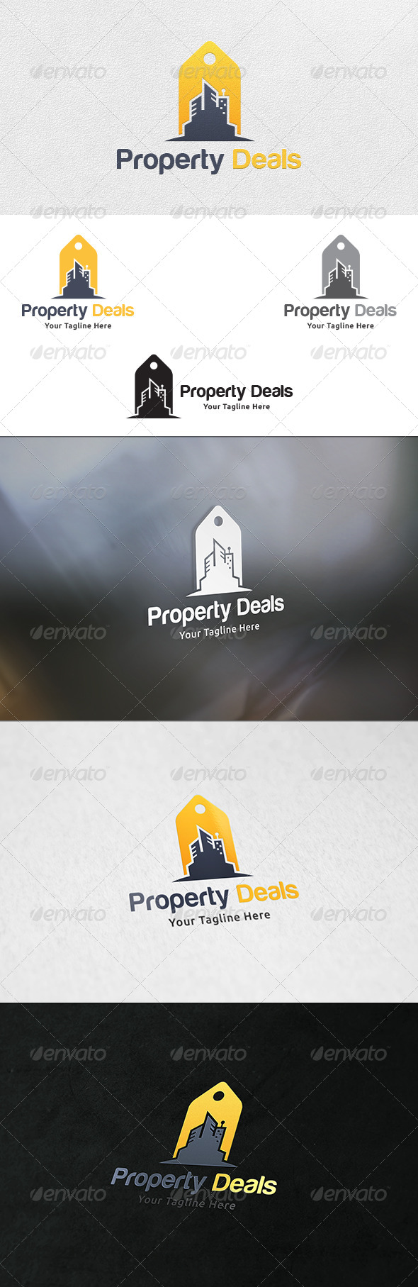 GraphicRiver Property Deals Logo Template 7261516