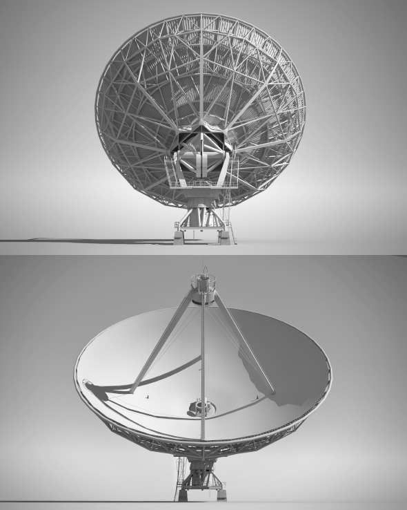 3DOcean High Detailed Radio Telescope 7261826