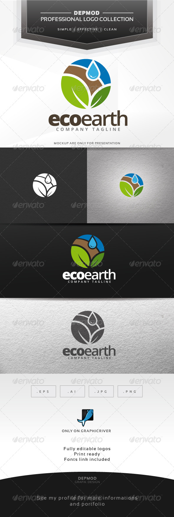 GraphicRiver Eco Earth Logo 7261829