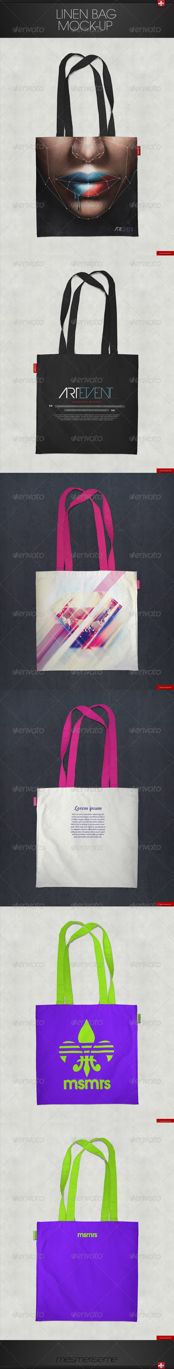 GraphicRiver Linen Bag Mock-up 7261844