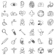 Vector Set of Sketch Medical Icons - GraphicRiver Item for Sale