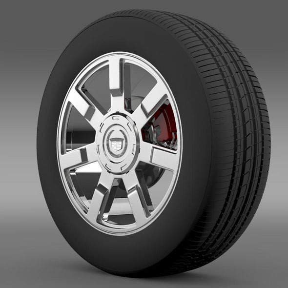 3DOcean Cadillac Escalade esv 2wd1 wheel 7262103