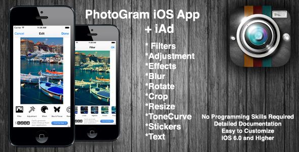 CodeCanyon PhotoGram for iPhone & iAd 7262183