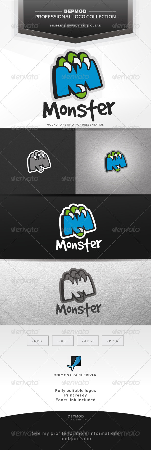 GraphicRiver Monster Logo 7262490