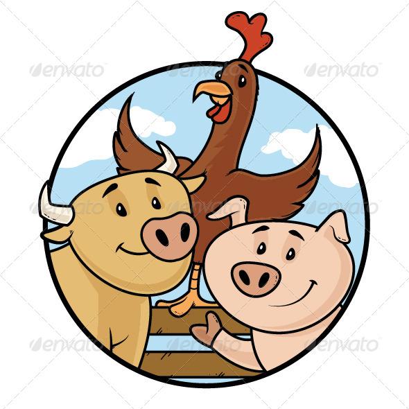 GraphicRiver Farm Animals 7238798