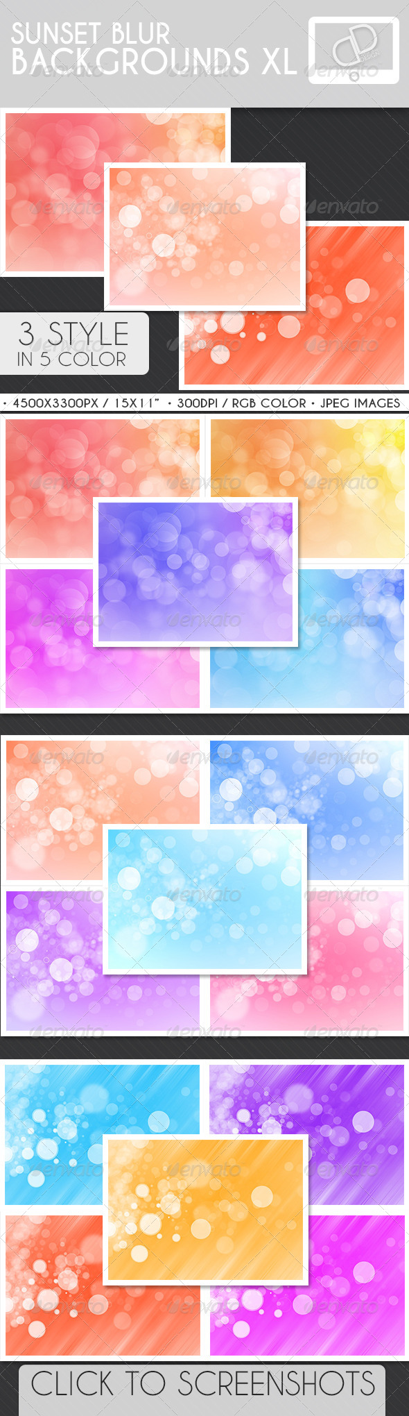 GraphicRiver Sunset Blur Backgrounds 7262520