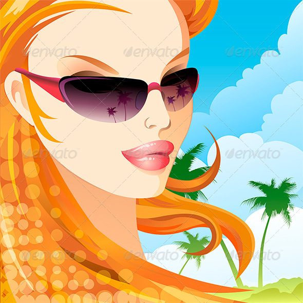GraphicRiver The Girl in Sunglasses 7262527