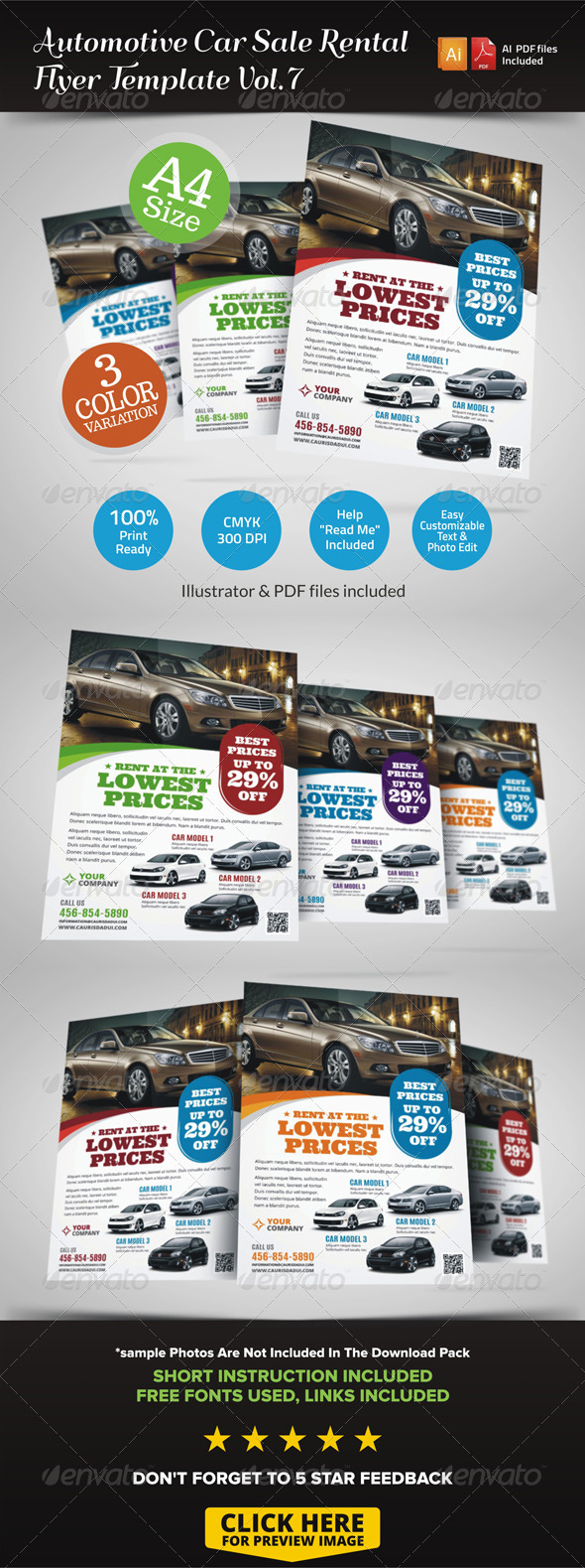 GraphicRiver Automotive Car Sale Rental Flyer Ad Vol.7 7262537