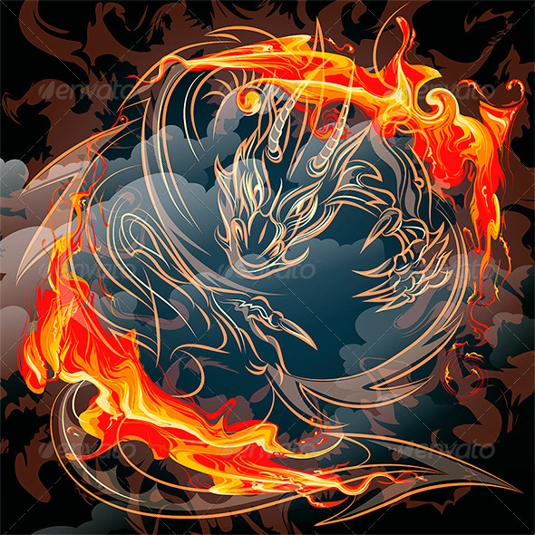 GraphicRiver The Fire Dragon 7262586