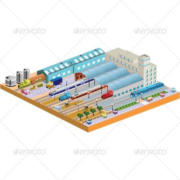 GraphicRiver Railway Station 7262632