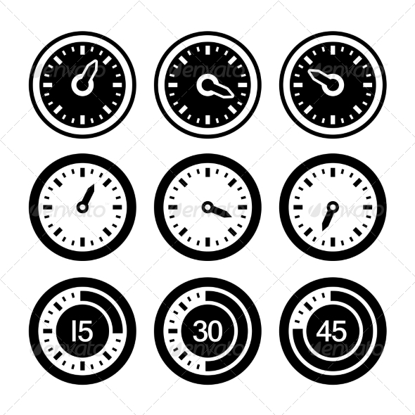 GraphicRiver Dial and Timers Icons Set 7262814