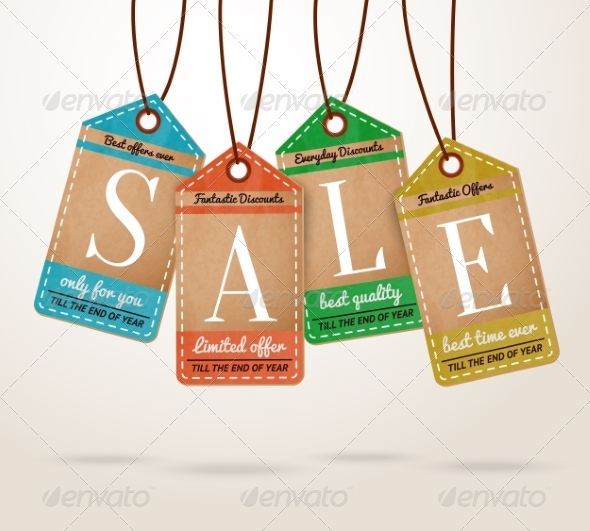 GraphicRiver Cardboard Price Tags Sale Labels 7262821