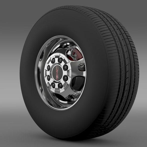 3DOcean GMC Sierra 2500HD 2wd crew 2009 wheel 7262825