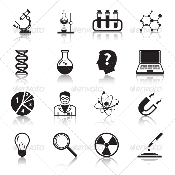 GraphicRiver Chemistry or Biology Science Icons Set 7262878