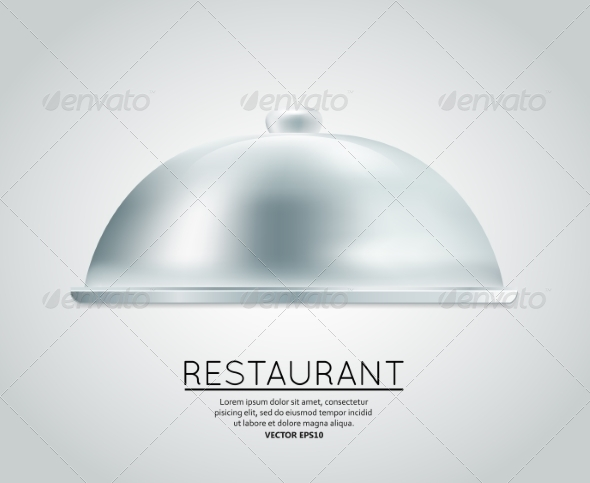 GraphicRiver Restaurant Cloche Food Tray 7262884