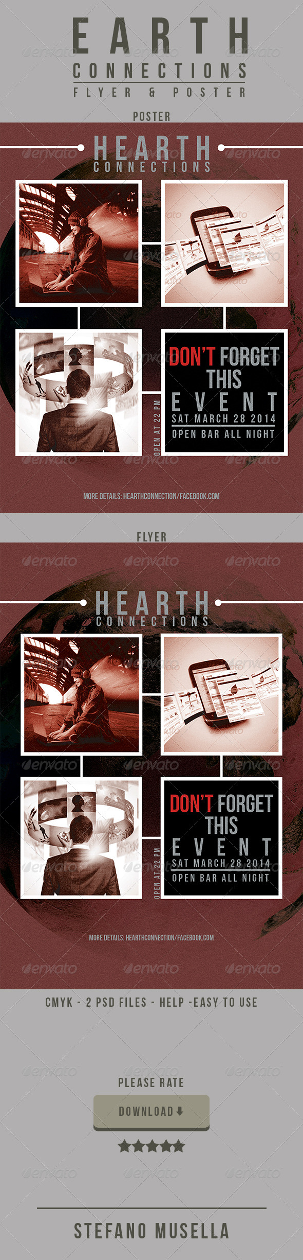 GraphicRiver Heart Connections Poster and Flyer 7262885