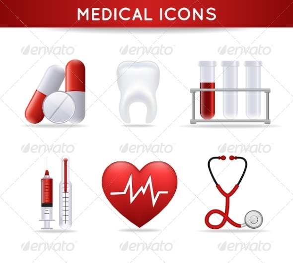 GraphicRiver Health Care Medical Icons Set 7262923