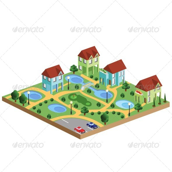 GraphicRiver Village Houses 7262929