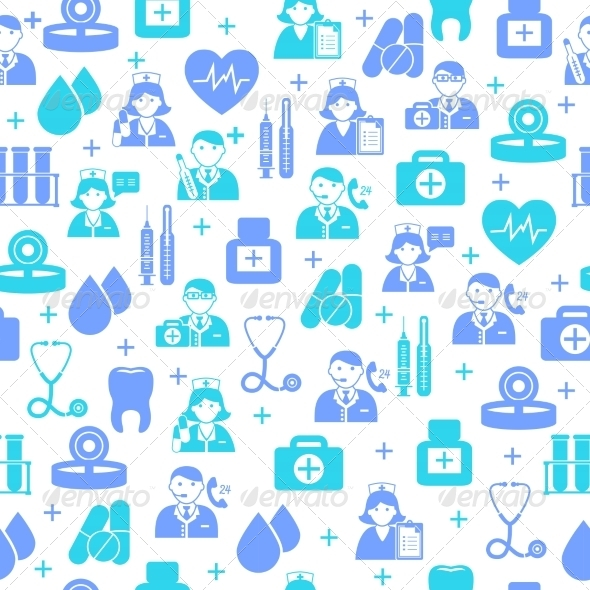 GraphicRiver Medical Seamless Pattern Background 7262938