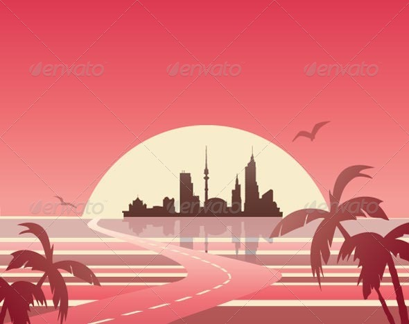 GraphicRiver Outlines of the City 7262983