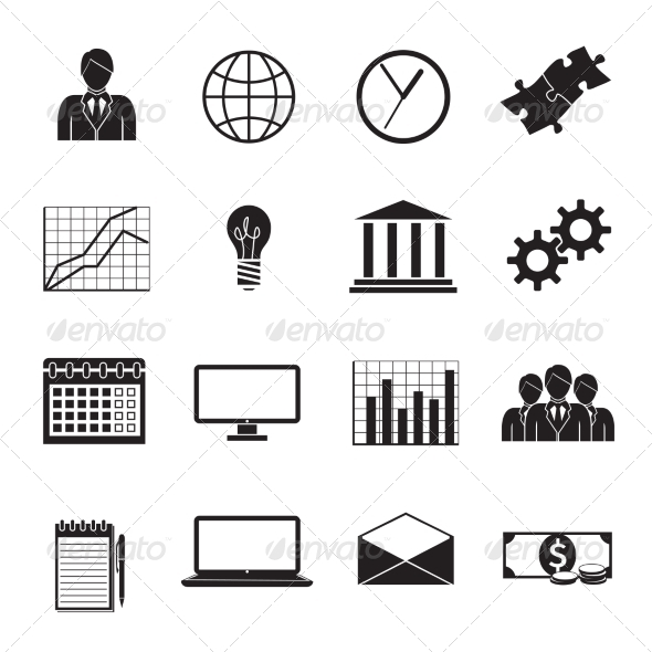GraphicRiver Business Flat Generic Icons Set 7263064