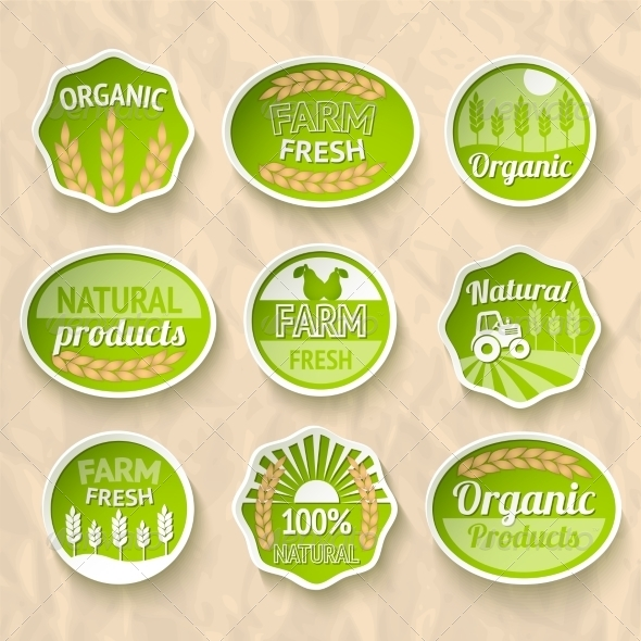 GraphicRiver Farming Harvesting and Agriculture Stickers 7263093