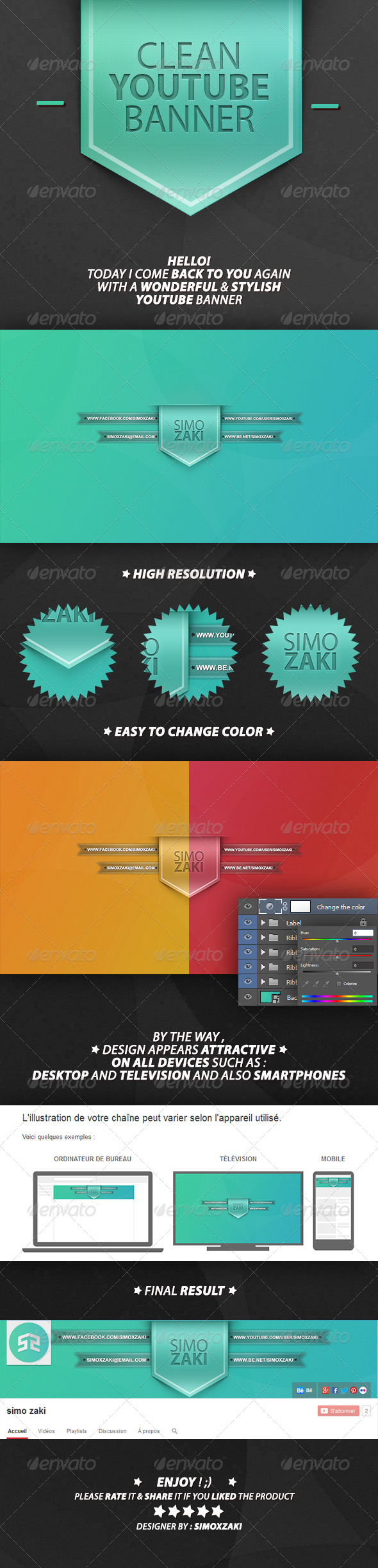GraphicRiver Clean youtube banner 7263132