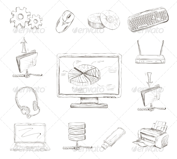 GraphicRiver Business Computer Icons Set 7263138