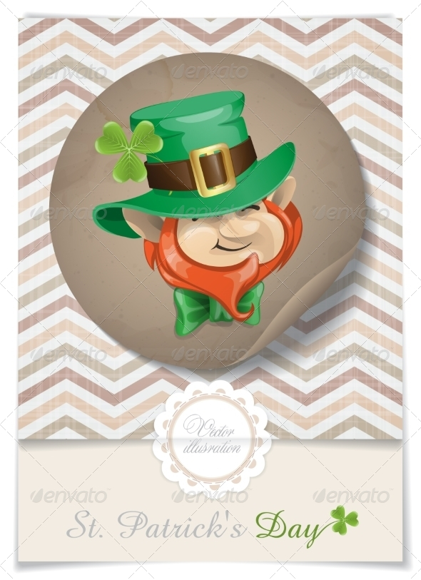 GraphicRiver St Patrick s Day Leprechaun Face 7263217