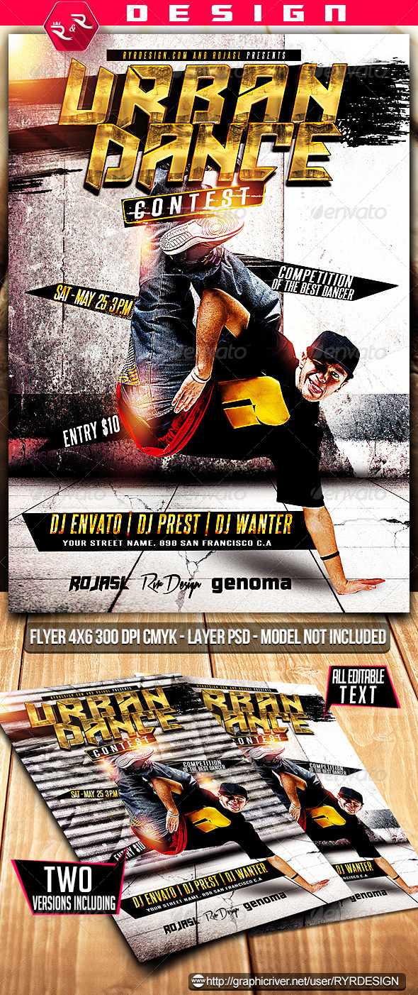 GraphicRiver Urban Dance Contest Flyer PSD 7223489