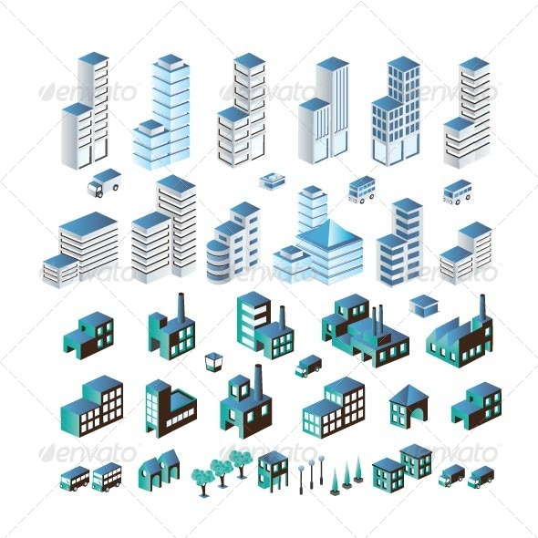 GraphicRiver Buildings 7263324