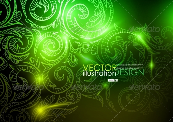 GraphicRiver Neon Pattern Background 7263342