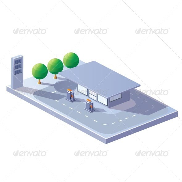 GraphicRiver Gas Station 7263344
