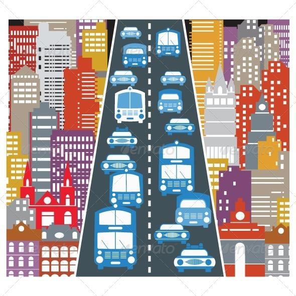 GraphicRiver Automobile Traffic 7263373