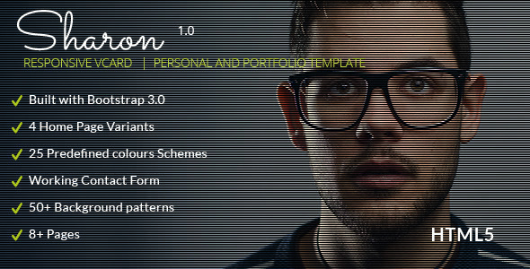 ThemeForest Sharon Vcard Personal Portfolio Resume Templates 7095028