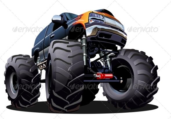 GraphicRiver Cartoon Monster Truck 7263473
